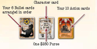 Colt Express Rules - Character Cards