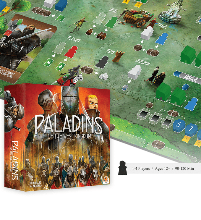 Recommended Worker Placement Board Games - Paladins of the West Kingdom 2