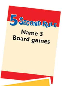5 second rule rules - Card