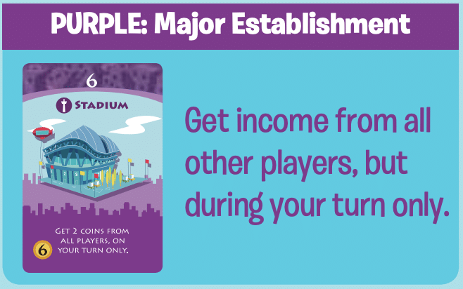 Purple Machi Koro Cards: Major Establishment
